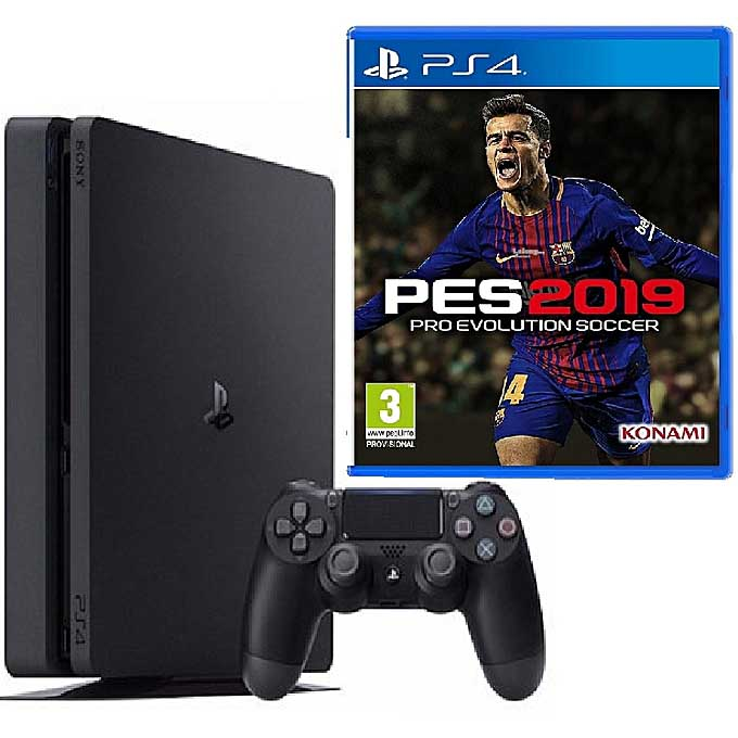 Sony PS4 Slim 500GB Console + Pro Evolution Soccer (PES) 2019