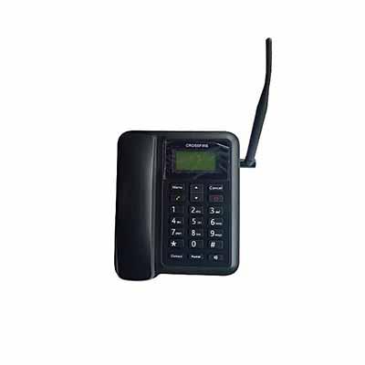 Dual GSM Sim Card Desktop Phone With FM Radio - Black